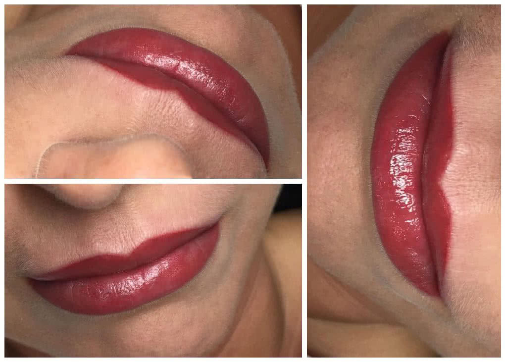 klaudia grobelska permanent makeup braunschweig 1 1020x731 - Long Time Liner Permanent Make-up der Lippen Strawberry